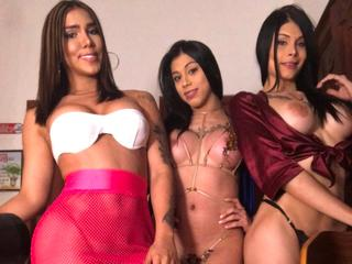 Transsexuals-Latins, hello we are a couple of transsexuals, very well endowed with beautiful curves and big penises full of cum for you